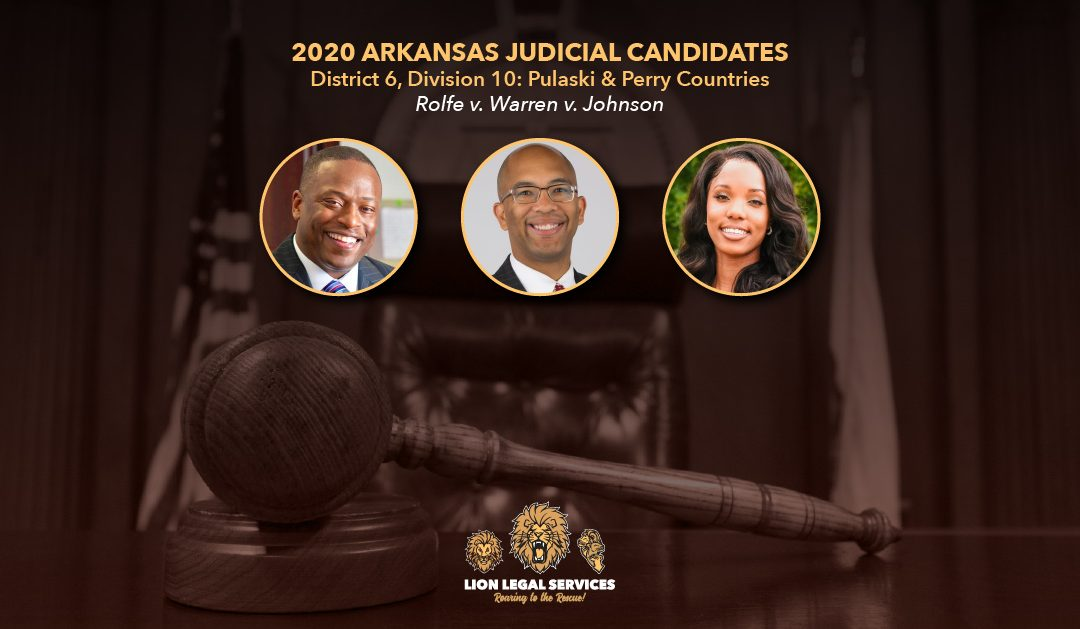 2020 Judicial Candidates for Arkansas District 6, Div. 10