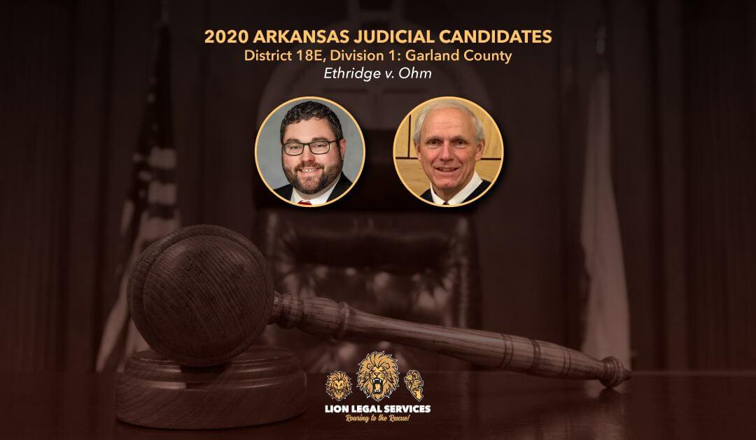 2020 Judicial Candidates: AR Dist. 18E, Div. 1